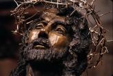 bronze crucifix (detail)